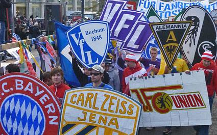 Fan-Demonstration in Berlin
