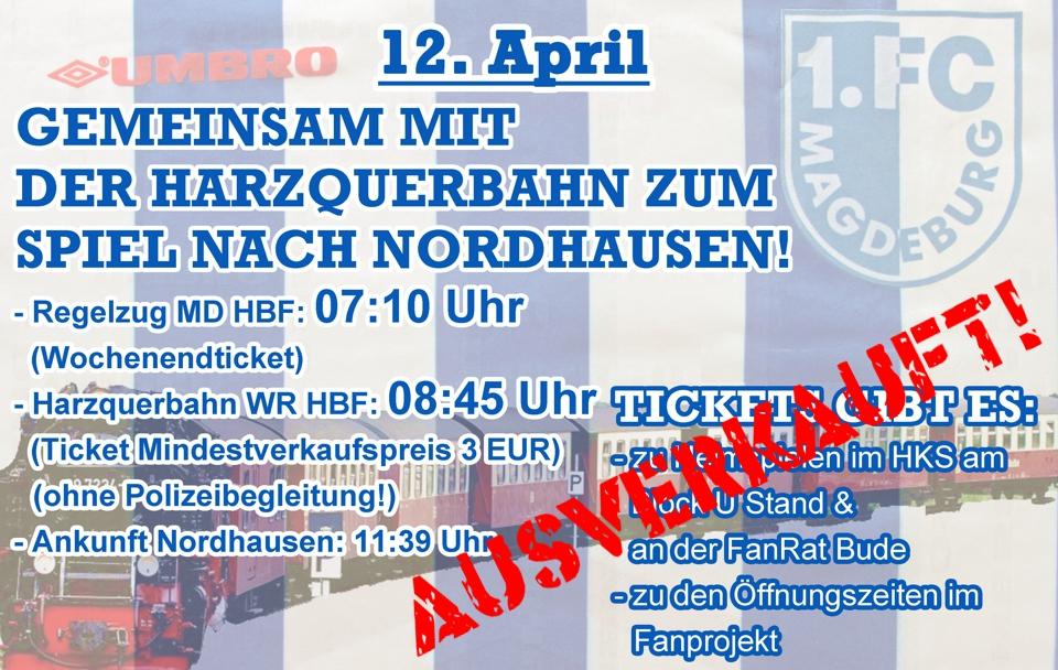 Auswärtsspiel in Nordhausen
